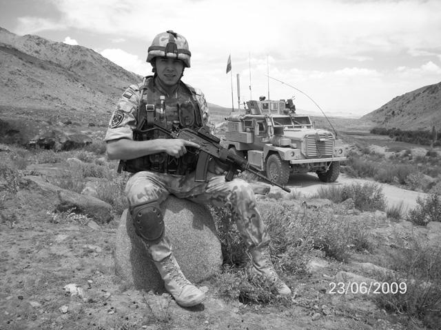 Radosław Szyszkiewicz, poległy 9 października 2009 r./fot. PKW Afganistan