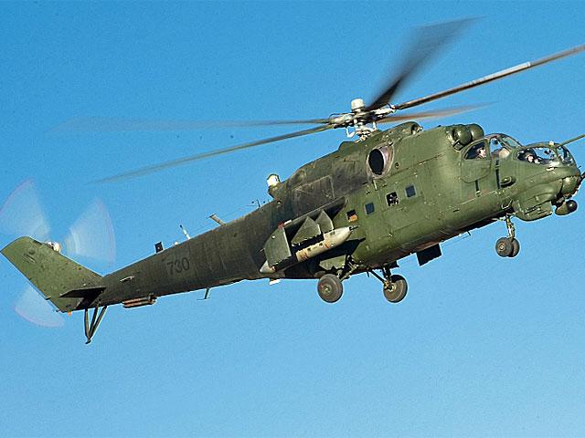 Dla porównania - tak wygląda cały i sprawny Mi-24/fot. Adam Roik