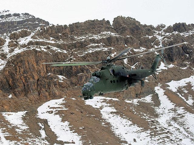 Mi-24 w akcji - gdzieś między Ghazni a Warriorem/fot. Marcin Ogdowski