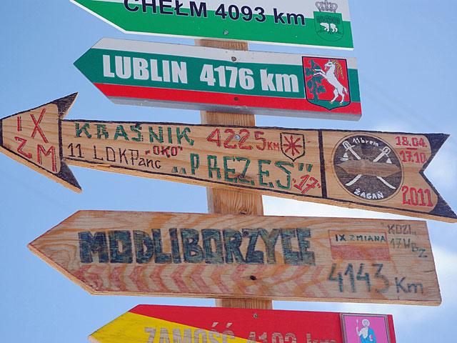 ... precyzyjnie wyznaczoną drogę do domu.../fot. Marcin Ogdowski