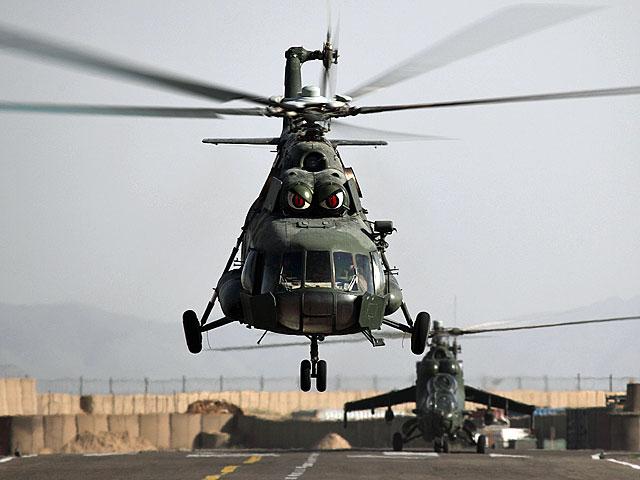 Stali czytelnicy blogu dobrze znają tę maszynę. Nz. na helipadzie w Ghazni/fot. Bartek Bera
