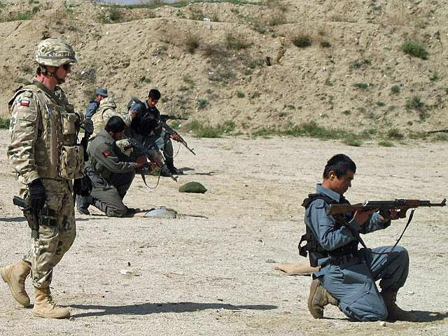 Na strzelnicy/fot. PKW Afganistan