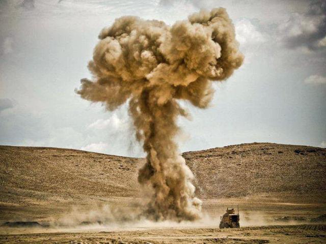 """""""Grzybek-gigant"""". Tak bywa, gdy saperzy za jednym razem pozbywają się wiekszej liczby niewybuchów/fot. Katarzyna Szal"""