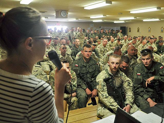 Tuż przed rozpoczęciem Ramandanu w Ghazni odbyło się szkolenie dla personelu XIII zmiany/fot. Dariusz Lewtak