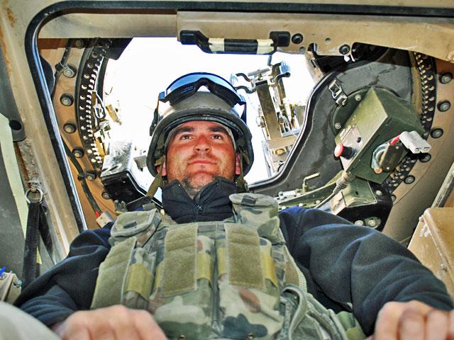 Ganer tuż przed wyjazdem na patrol, Ghazni, październik 2013/fot. Marcin Ogdowski